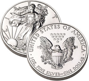 aguila americana plata